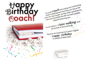 Happy Birthday Coach Card (5×7)